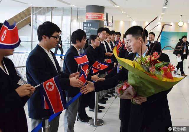 2017年2月17日,日本,2017亚冬会前瞻,朝鲜代表团抵达札幌。