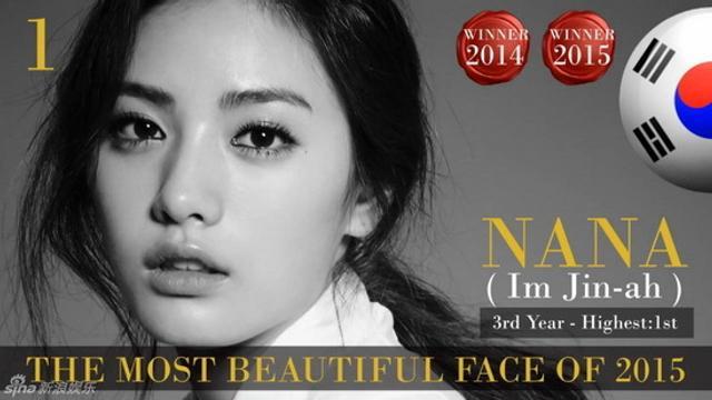 2015世界最美面孔:刘亦菲第77位 柳岩首上榜