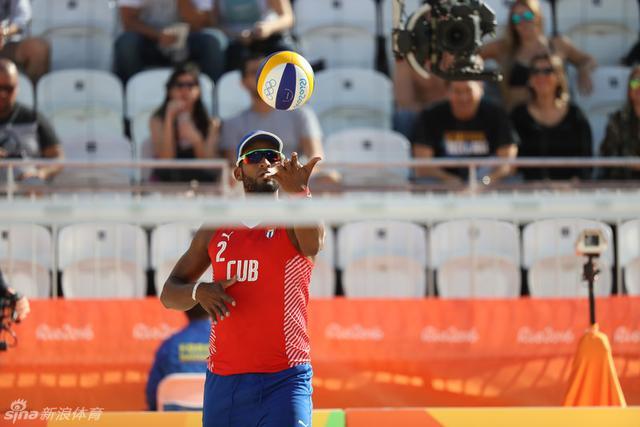 里约奥运会,沙滩排球男子16强 奥地利0-2古巴。
