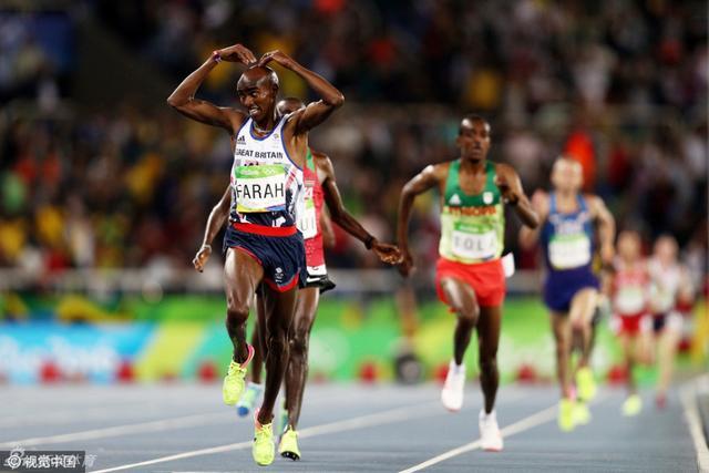 北京时间2016年8月14日,里约奥运会,男子10000米决赛,法拉赫成功卫冕。