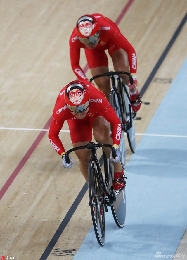 北京时间8月13日,里约奥运会场地自行车女子团体竞速赛,中国队打破世界纪录。