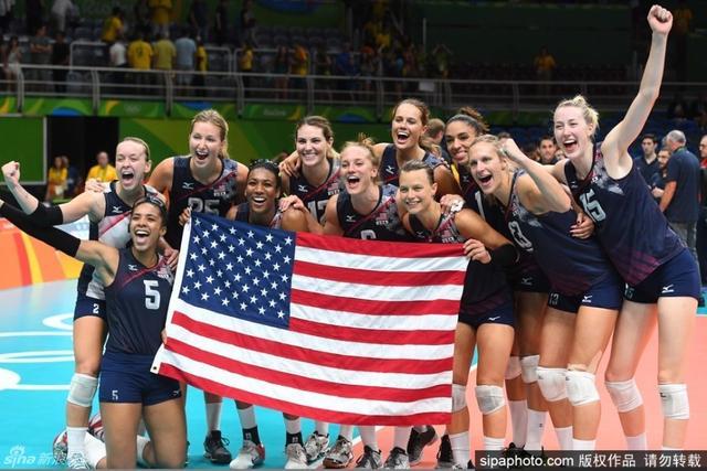 里约奥运会,女排季军争夺战,美国战胜荷兰。