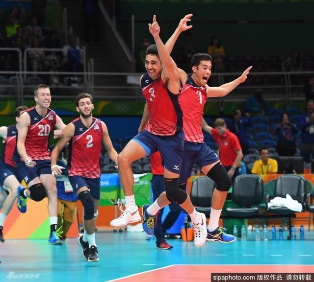 里约奥运会,男排铜牌赛 美国VS俄罗斯。